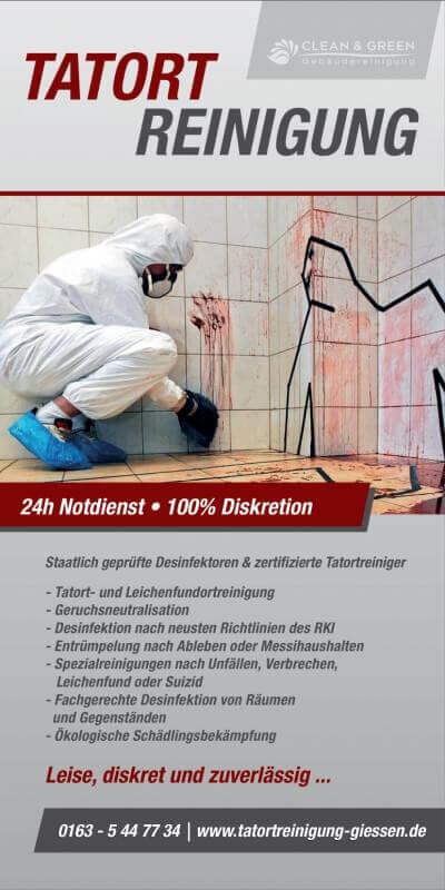 Flyer Tatortreinigung Gießen